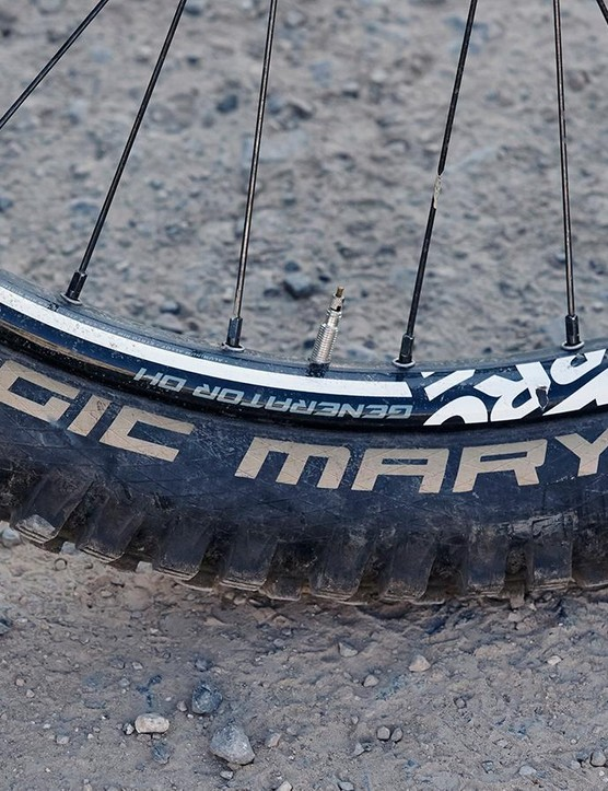 Schwalbe's Magic Marys will grip in just about every condition but aren't the fastest rolling tyres out there