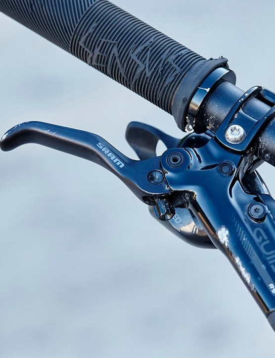 SRAM's Guide RS brakes provide dependable, controllable power even in boggy conditions