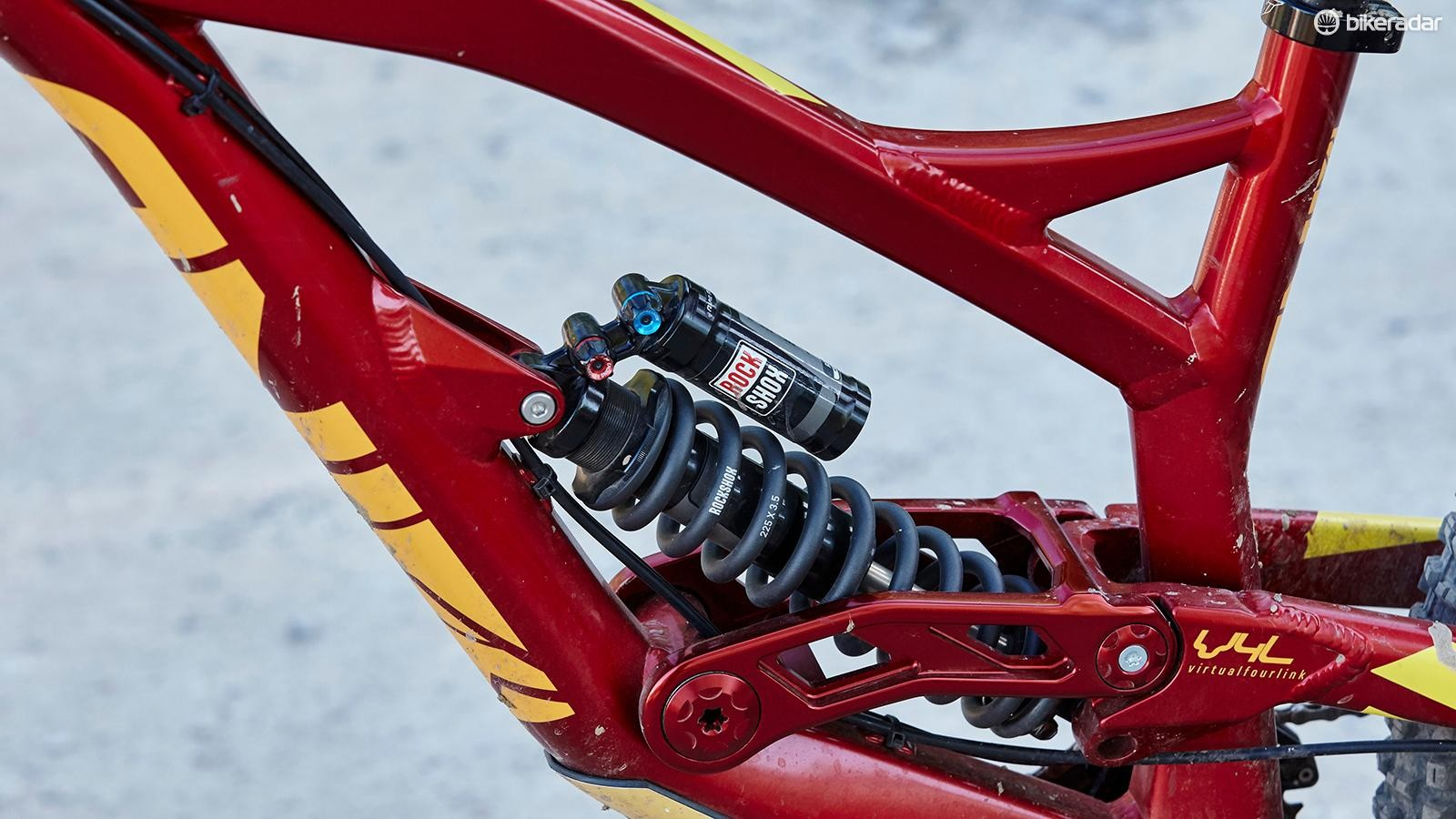 It's easy to get the Vivid R2C shock tweaked to your requirements – though it's not ideal for the lightest riders