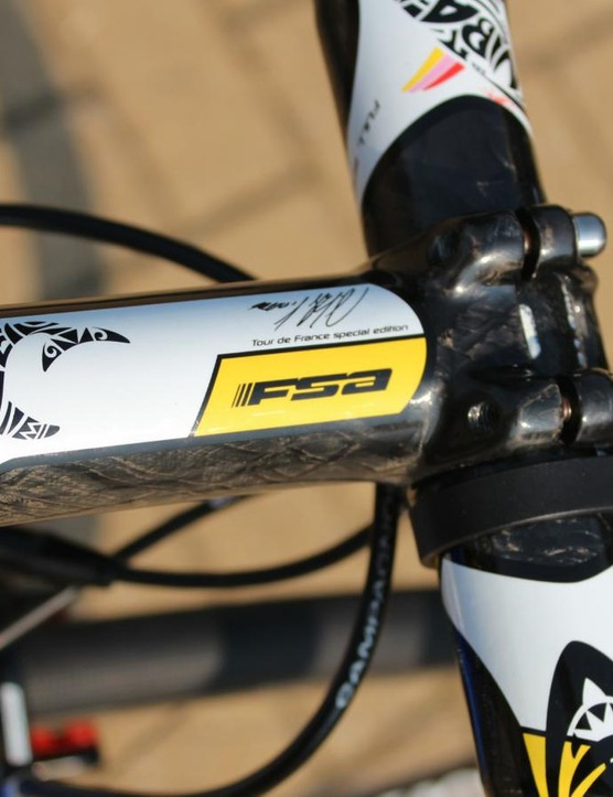 The FSA OS 99 custom stem in a 120mm length