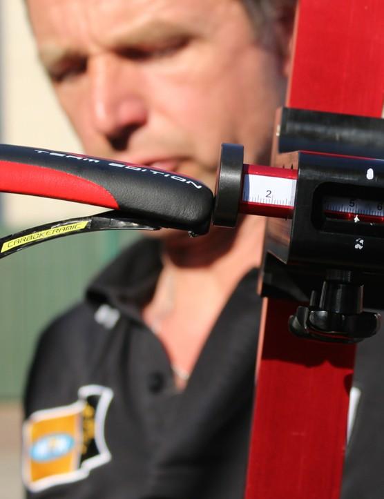 This BIKEsettings.com tool keys off of the bottom bracket for saddle setback measurement