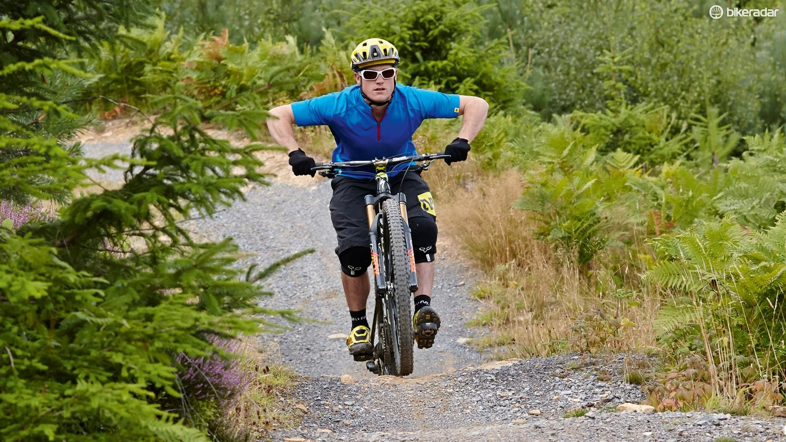 2. Absorb the upward movement of your bike