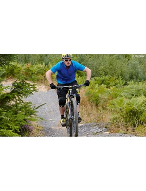 4. Absorb the bike's movement on the second upslope