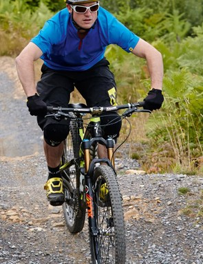 5. Extend your legs again to increase your speed as you exit the section