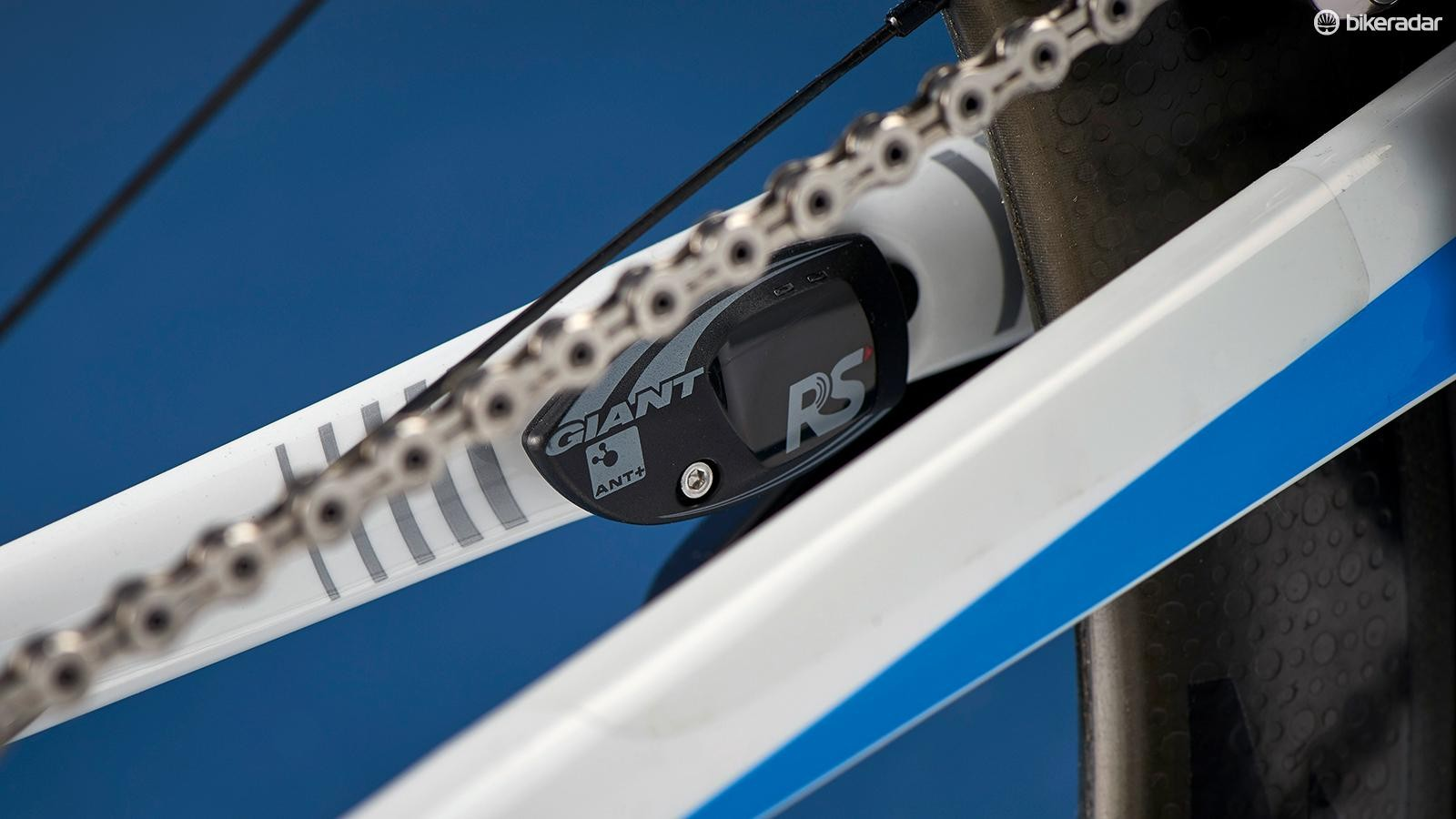 Giant's RS RideSensor magnet will transmit speed and cadence data to any ANT+device