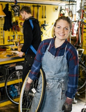 Women in the bike biz - happily, an increasingly less rare sight