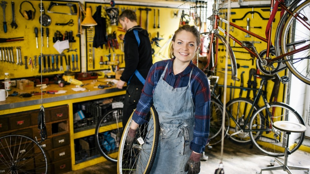 Community run bike shops give people the opportunity to gain maintenance skills