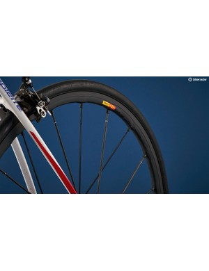 Mavic's R-Sys wheels are light and the brake track effective, but they can screech under braking