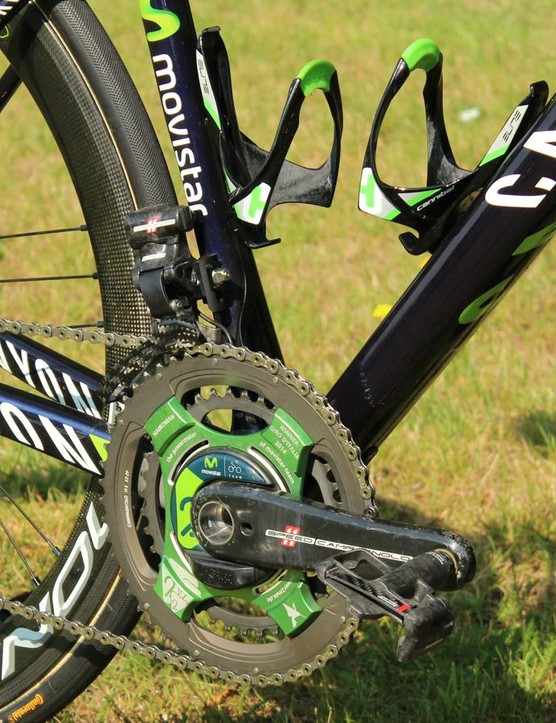 Campagnolo Super Record EPS electric groupset with a custom power2max power meter