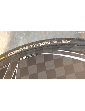 Continental is a common tubular at the Tour de France. While 25mm is a common width for road stages, 22m is still fairly normal for time trials