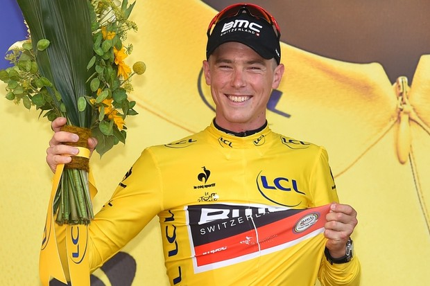 Dennis becomes the seventh Australian to wear the yellow jersey