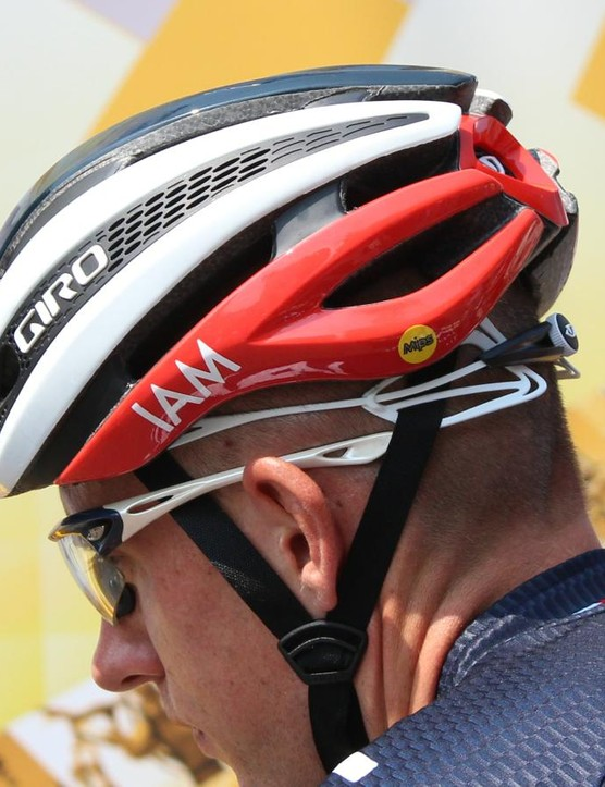 All three Giro-sponsored teams at the Tour de France were wearing the new MIPS helmet Sunday