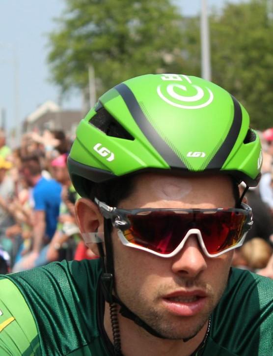 The Garneau Sprint Europcar helmet as worn on stage 2 of the Tour de France