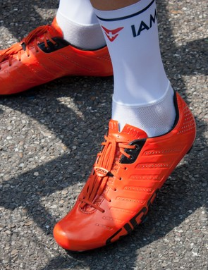 Giro's Empire SLX lace-ups were seen on a handful of riders