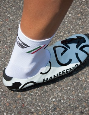 This is his clog-like design for the Tour
