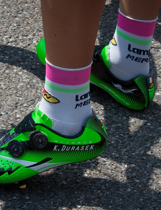 Lampre-Merida's Kristijan Durasek won't get his pair mixed up with his roommate's