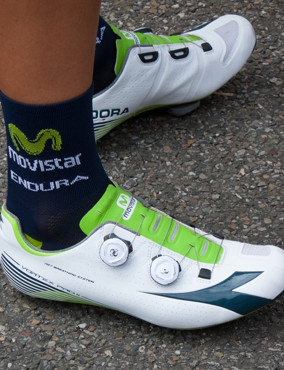 Dialled-in Diadoras for the Movistar team