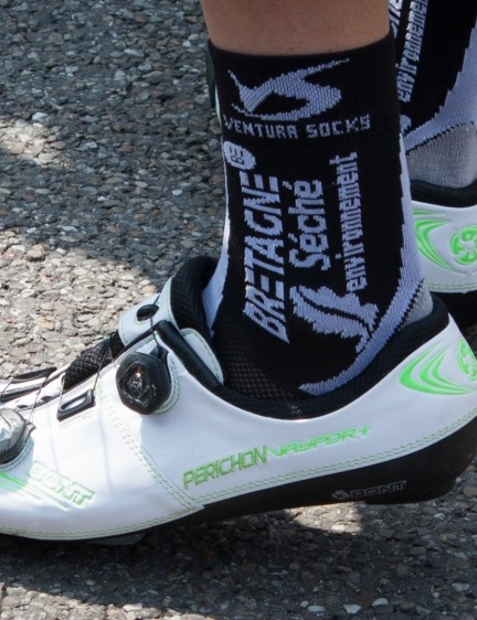 Pierre-Luc Perichon has his surname embroidered on his Bonts