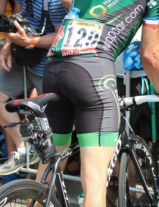 Voeckler rode this bike for the neutral section of about half an hour, then he switched bikes