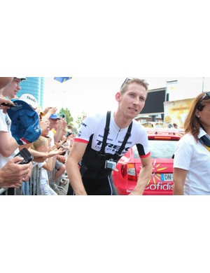 Hometown hero Bauke Mollema rode a GoPro with a Chesty mount for the neutral section