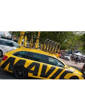 Mavic's neutral service car got a logo overhaul for 2015