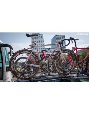Cancellara rode this Trek Domane into yellow on stage two