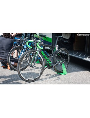 Orica-GreenEdge don't have a full stable of the new and just-launched Scott Foil yet