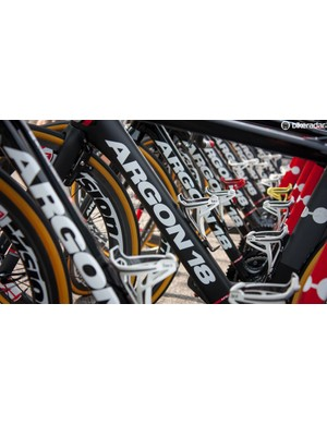 Bora-Argon 18 riders have a mix of Gallium Pro and Nitrogen bikes for this year's Tour