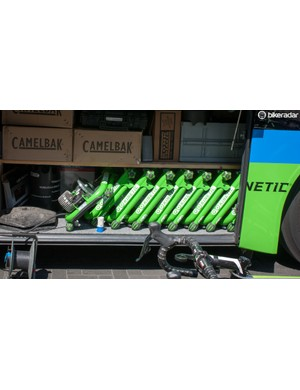 Cannondale-Garmin has a stock of Kurt Kinetic trainers ready