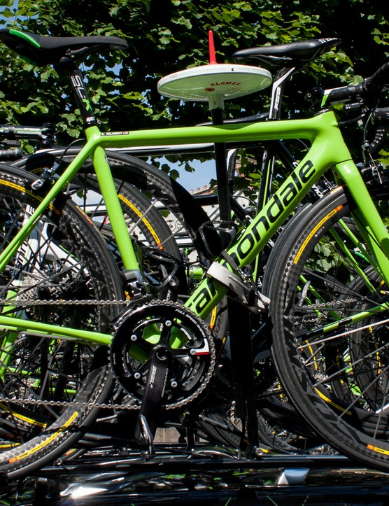 Andrew Talansky's back-up bike is one of the prototype versions of the new Super Six Evo