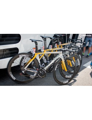 MTN-Qhubeka may be trying to get an unfair advantage through its chrome frames dazzling other riders