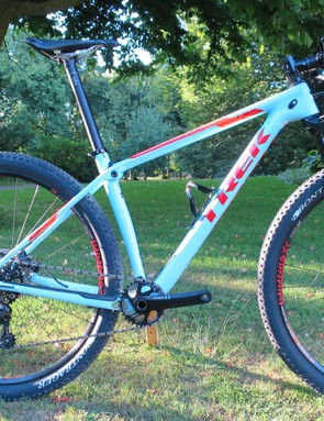 Trek's new Procaliber 9.8 SL features a race-worthy component spec and just enough give to take the edge off things