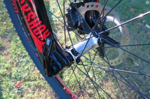The RockShox SID SL fork uses the new Boost (110x15mm) axle spacing to improve stiffness and steering precision