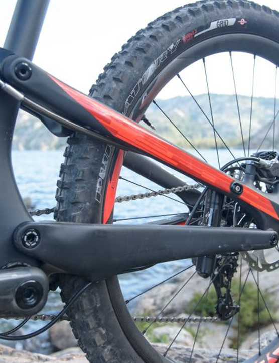 Just like the Specialized Epic, the Brain is placed on the left side of the rear seatstay