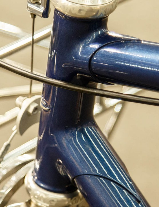A closer look at the head tube junction...