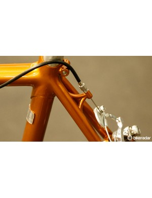A neat cable hanger sits off the left seatstay