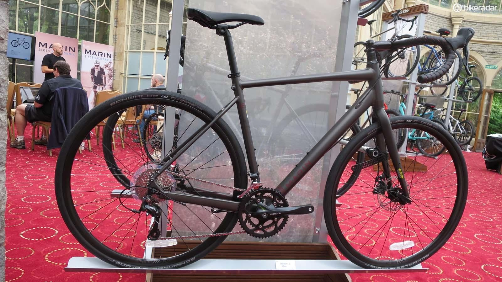 The base model Gestalt 1 gravel machine comes with a Shimano Sora drivetrain and cable disc brakes for £800