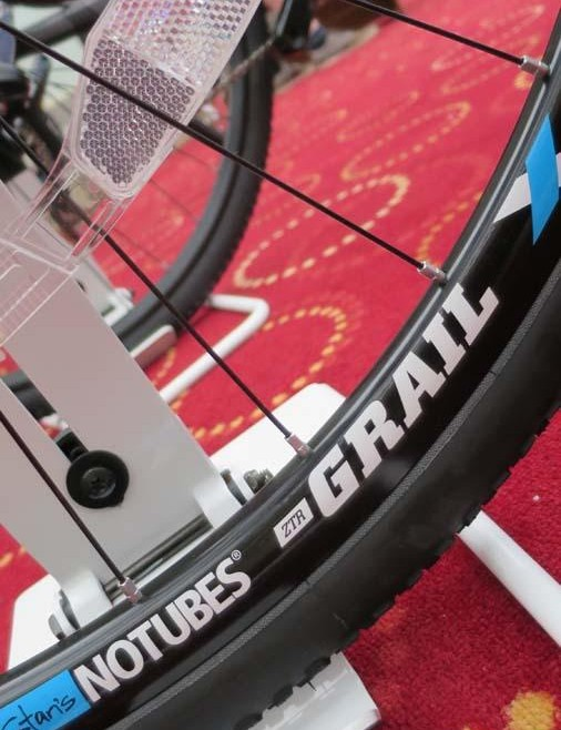 Stan's tubeless ready Grail rims are fitted to the new Cortina CX…