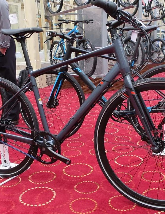 Among the new Hybrid range is this simple, neat and stylish Fairfax SC4 belt drive bike at £900