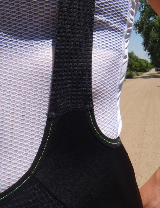 The cut of the bib shorts sits high on the hips, which is both flattering and supportive
