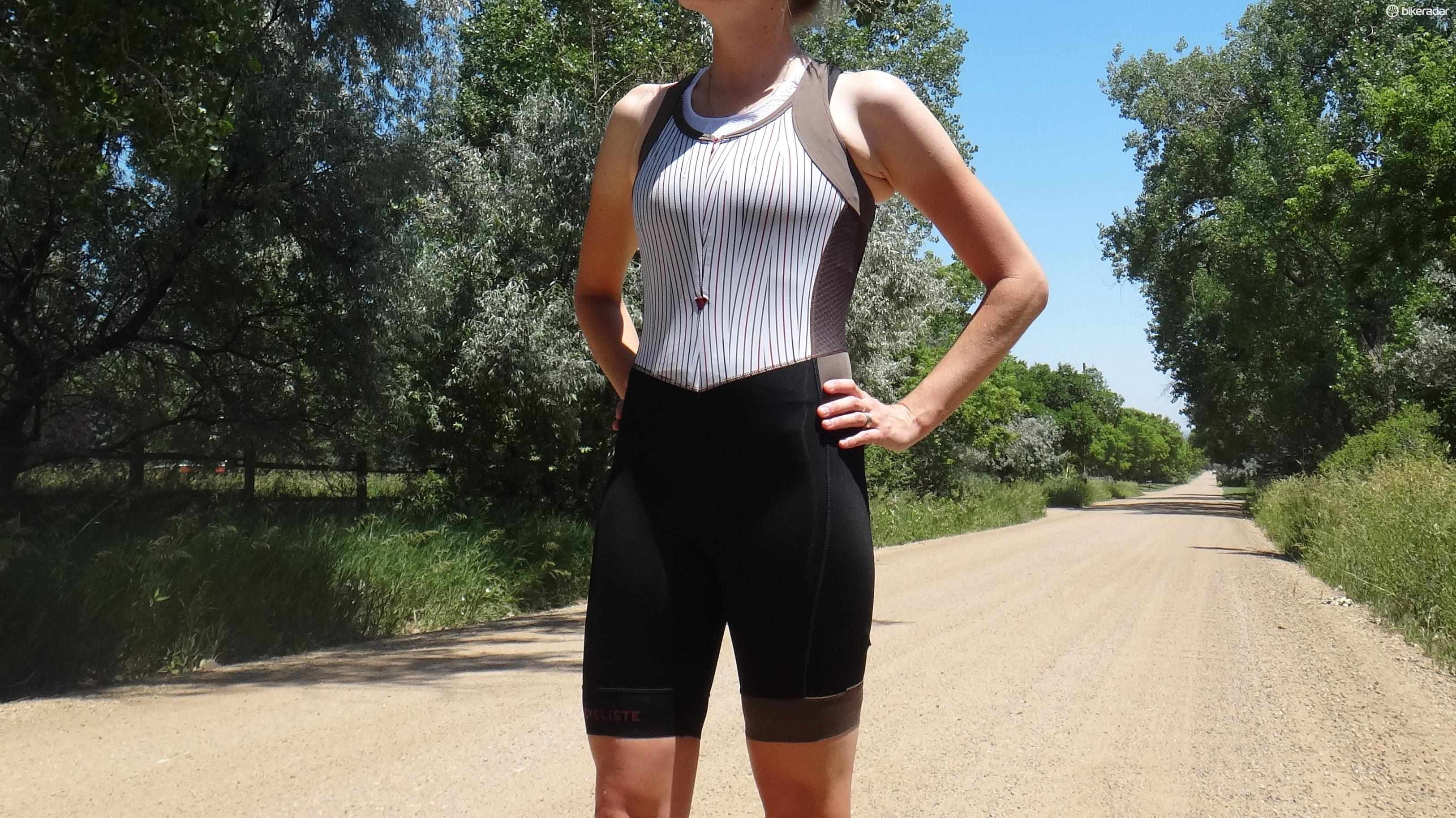Café du Cycliste's Antoinette Bibs earned style points for the striped built-in base layer