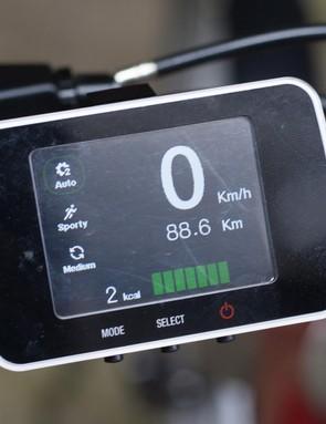 Mando Footloose e-bike display