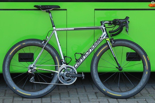 Like the rest of his team, Ryder Hesjedal got a brand new Cannondale SuperSix EVO just before the start of the 2015 Tour de France