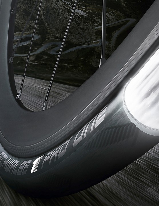 Schwalbe use a triple-compound tread for the Pro One