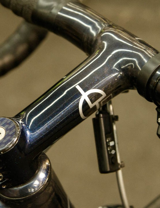 A nice one-piece integrated handlebar and stem sat on display