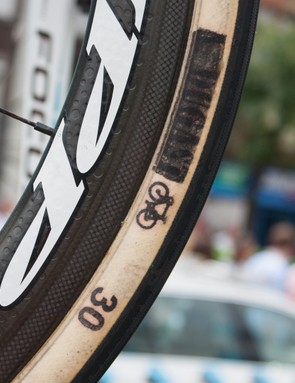 These A. Dugast tubs were seen on AG2R's bikes for Stage 4's cobbles