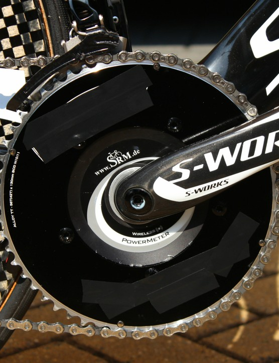 Lars Boom's 56t FSA chainring. FSA is a team sponsor, but perhaps Specialized would prefer Boom use Specialized rings