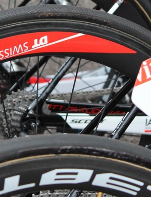 If you scribble over the Continental logo, is it still technically a Continental? Apparently not for the Schwalbe-sponsored IAM Cycling