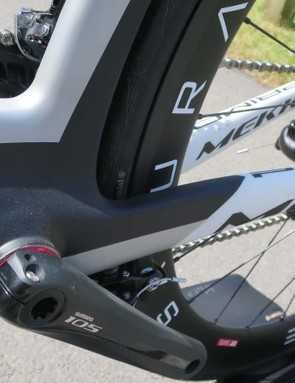 The Primo's oversized bottom bracket shell has benefited from a bit of aero-styling