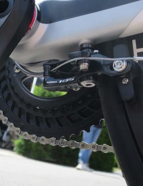 The rear brake is now a Shimano direct-mount situated underneath the chainstays behind the BB shell